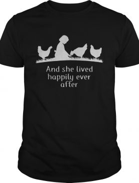 Awesome And She Lived Happily Ever After shirt