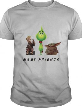Baby groot grinch and baby yoda baby friends shirt
