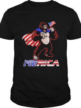 Bigfoot Happy The 4th Of July America shirt