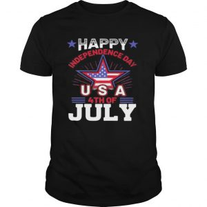Happy independence day usa 4th of july flag star shirt