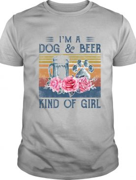 I'm a paw dog and beer kind of girl flowers vintage retro shirt