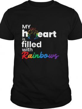 My heart is filled with rainbows LGBT shirt