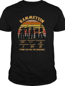 Rammstein thank you for the memories signatures vintage retro shirt