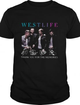 Westlife Thank You For The Memories Signatures shirt