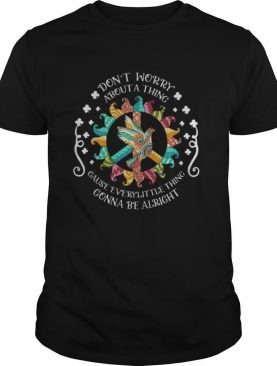 Gnomes peace bird don't worry about a thing gause everylittle thing gonna be alright st. Patrick's day shirt