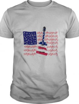 Guitar Music Note American Flag Independence Day shirt