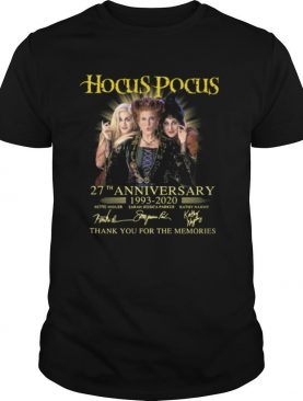 Hocus Pocus 27th Anniversary 1993 2020 Signatures Thank You For The Memories shirt