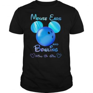 Mouse ears and bowling kind of girl shirt