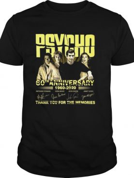 Psycho 60th anniversary 1960 2020 thank you for the memories signature shirt