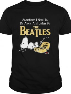 Sometimes I need to be alone and listen to the Beatles Snoopy shirt