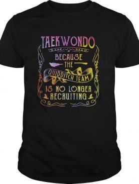 Taekwondo because the quidditch team is no longer recruiting shirt