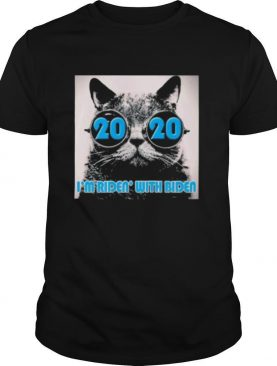 Cat 2020 i'm ridin with joe biden shirt