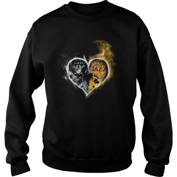 Heart Las Vegas Raiders and Los Angeles Lakers shirt