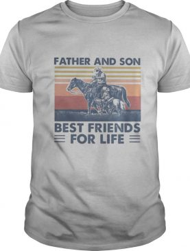 Horse Father and son best friends for life vintage retro shirt