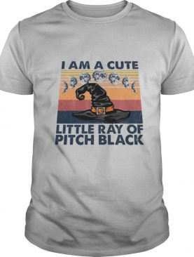I am a cute little ray of pitch black vintage retro shirt