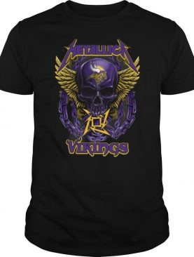 Skull Metallic Vikings Halloween shirt