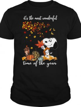 Snoopy It's The Most Wonderful Time Of The Year Halloween shirt
