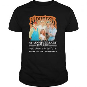 The dukes of hazzard 41st anniversary 1979 2020 thank you for the memories signatures shirt