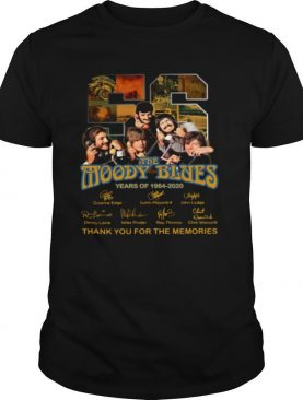 56 the moody blues years of 1964 2020 thank you for the memories signatures shirt
