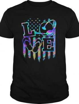 Love Dispatcher American Flag Hologram Independence Day shirt