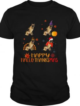 Nice German Shepherd Happy Hallothanksmas shirt