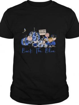 Snoopy And Friends Pumpkin I've Got Your Six Back The Blue shirt