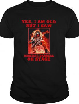 Yes i am old but i saw dimebag darrell on stage halloween shirt