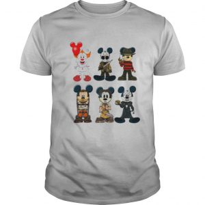 Halloween mickey mouse horror characters shirt