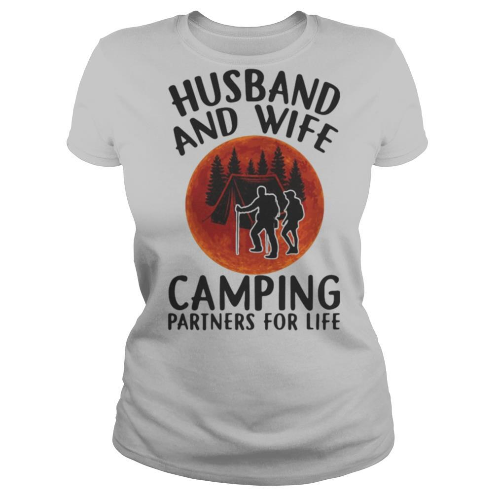 Husband and wife camping partners for life sunset shirt