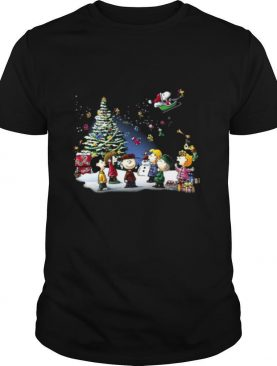 Lovely The Peanuts Light Merry Christmas shirt