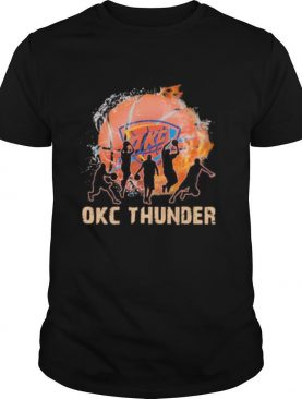 Okc thunder basketball water and fire shirt