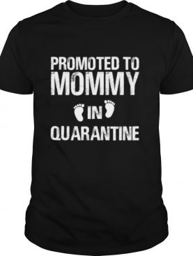 Promoted To Mommy In Quarantine Pregnancy Announcemet shirt
