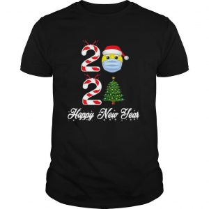 2021 Christmas Tree Mask Happy New Year shirt