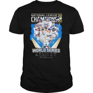 Los Angeles Dodgers National League Champions 2020 World Series Signatures shirt