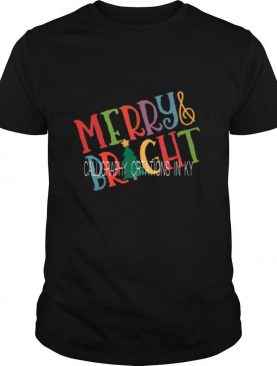 Merry And Bright Calligraphy Creations In Ky shirt