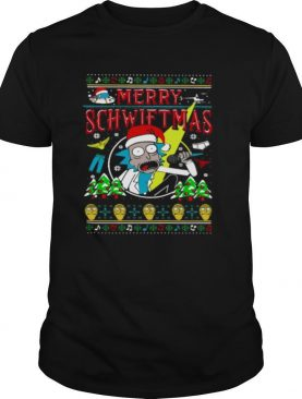 Ugly Christmas Rick And Morty Merry Schwiftmas shirt
