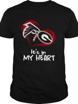 Atlanta Falcons And Georgia Bulldogs Football Its In My Heart Valentines Day shirt