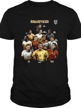 Ballon Dor Dream Team Cafu Xavi Lionel Messi Ronaldo shirt