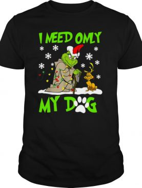 Grinch Yoda I Need Only My Dog Christmas shirt