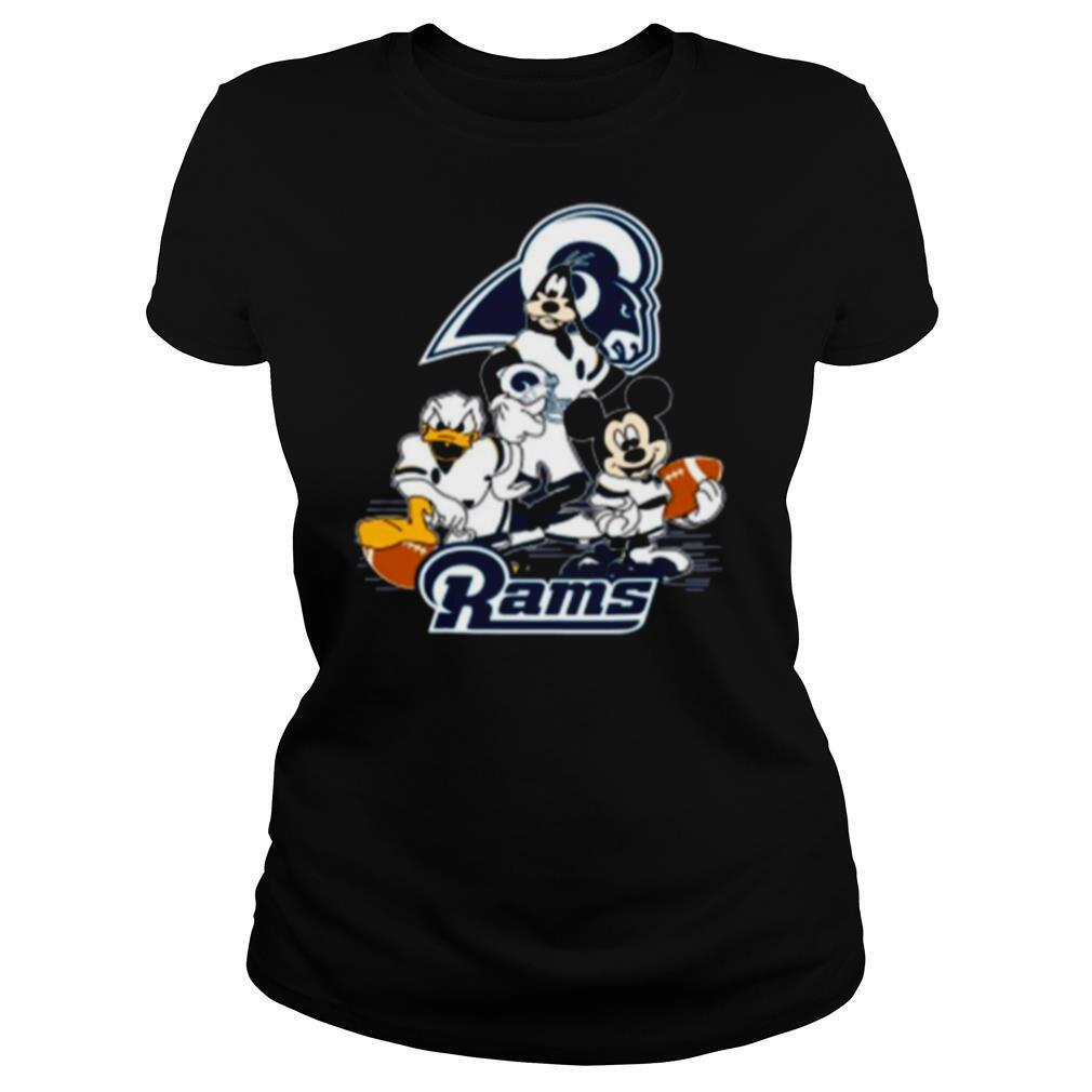 Mickey Mouse Donald Duck And Goofy With Rams Sport shirt