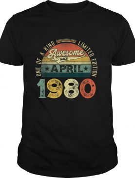 41st Birthday Decorations April 1980 Men Women 41 Years Old T Shirt