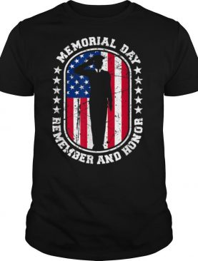 Memorial Day Remember Honor Veterans Sacrifice For Freedom T Shirt
